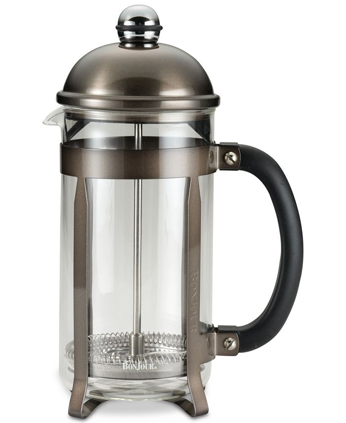 Bonjour - Stainless Steel & Glass 33.8-Oz. French Press