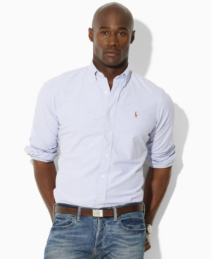 Polo Ralph Lauren Big and Tall Shirt, Classic Fit Basic Oxford