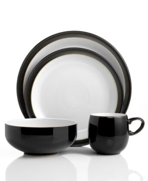 Denby Dinnerware, Jet Black 4 Piece Place Setting