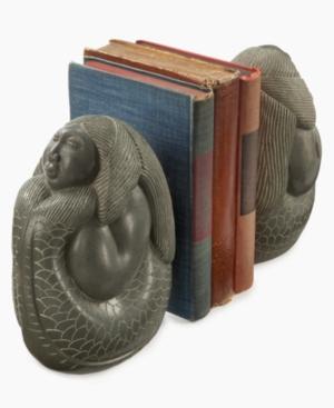 Heart of Haiti Bookends, Set of 2 La Sirene Stone Mermaids