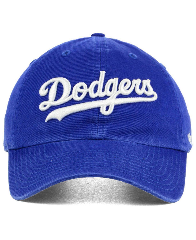 '47 Brand Los Angeles Dodgers Core CLEAN UP Strapback Cap & Reviews - Sports Fan Shop By Lids - Men - Macy's