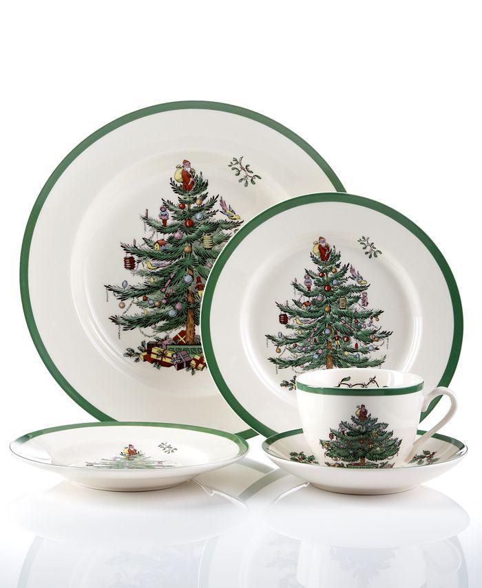 "Spode - ""Christmas Tree"" 5-Piece Place Setting"