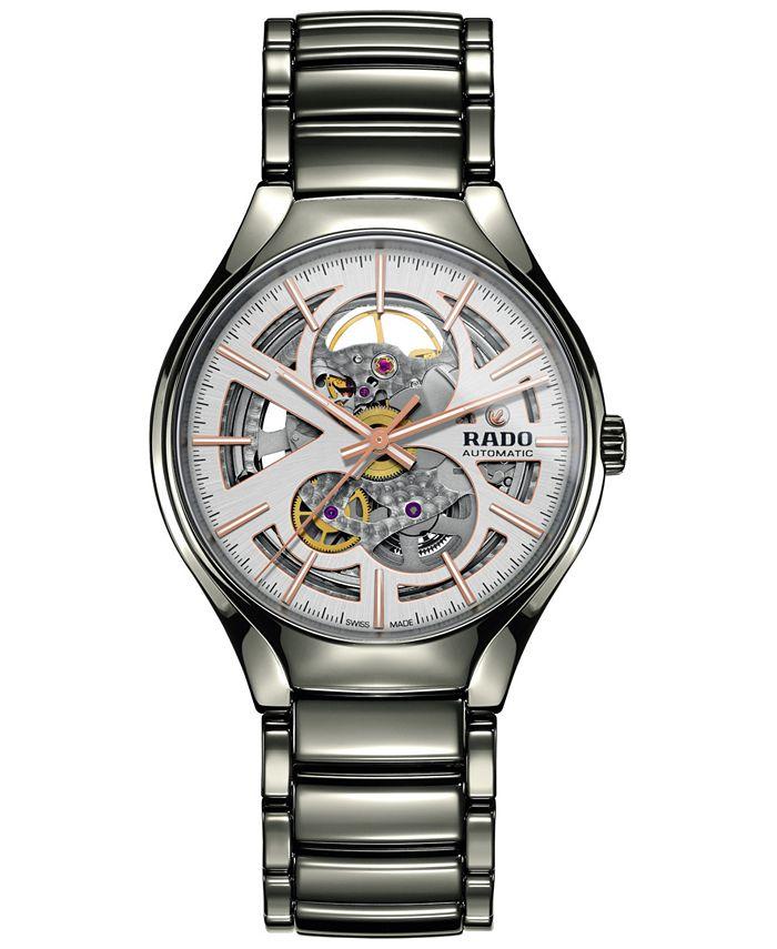 Rado - Men's Swiss Automatic True Open Heart Plasma High-tech Ceramic Bracelet Watch 40mm