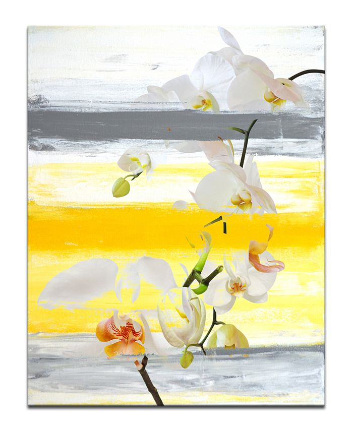 Ready2HangArt - 'Painted Petals XXVI' Canvas Art Print