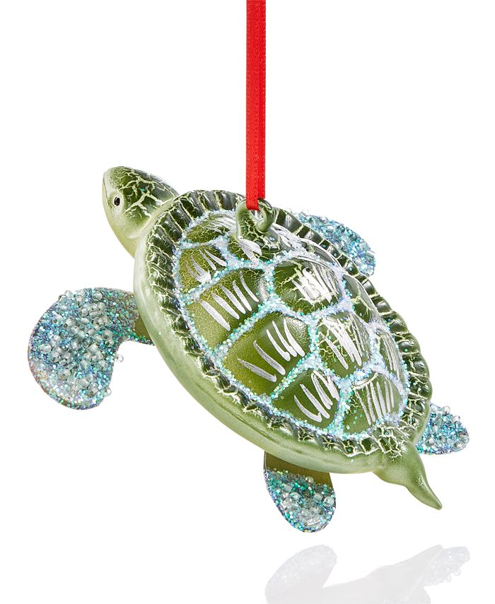 Holiday Lane - Seaside Turtle Ornament Created For Macy's