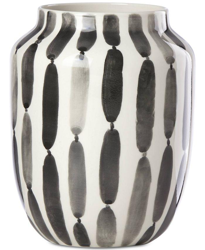 "Lenox - Brushstrokes Striped 7"" Bouquet Vase"
