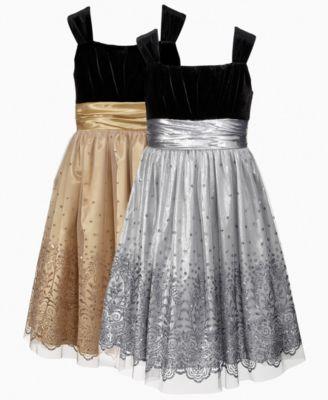 Rare Editions Kids Dress, Girls Glitter Dress