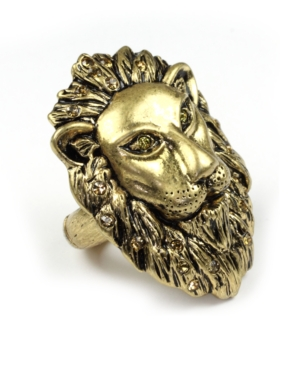 RACHEL Rachel Roy Ring, Gold Tone Lion Ring
