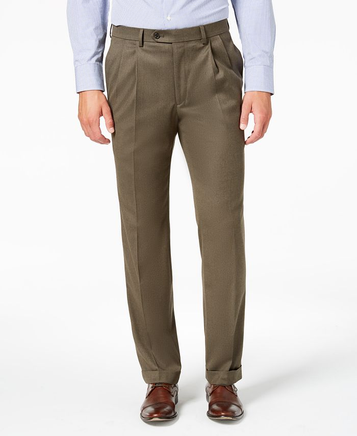 Lauren Ralph Lauren - Men's Classic-Fit UltraFlex Stretch Micro-Twill Pleated Dress Pants