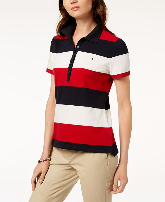 Tommy Hilfiger Striped Polo Shirt, Created for Macy's & Reviews ...