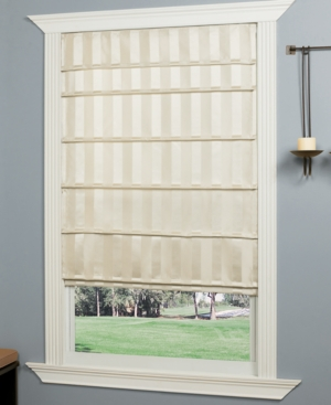 Home Basics Window Treatments, Cordless Roman Damask Stripe Shade 43-48