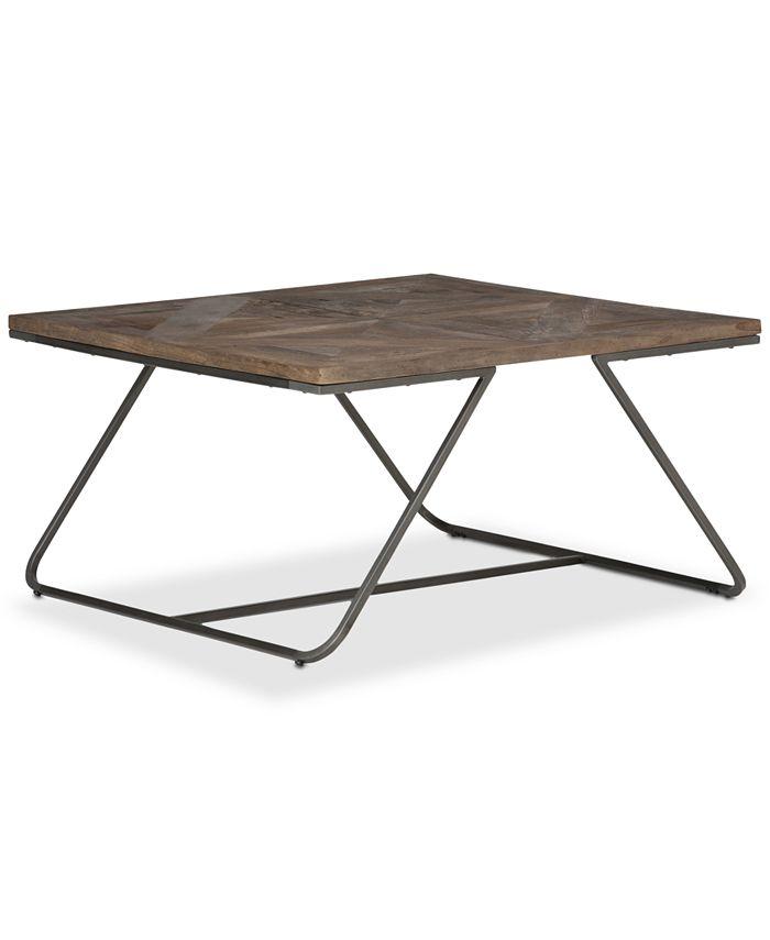 Simpli Home - Ganim Square Coffee Table, Quick Ship