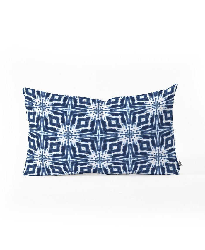 Deny Designs Jacqueline Maldonado Watercolor Shibori Indigo Oblong Throw Pillow Reviews Decorative Throw Pillows Bed Bath Macy S