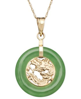 10k gold necklace jade dragon circle pendant necklaces 10k gold necklace jade dragon circle pendant mozeypictures Gallery