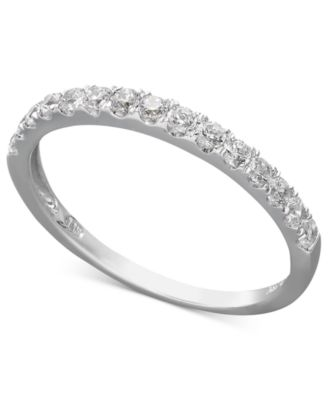 arabella 14k white gold ring swarovski zirconia wedding band 1 ct tw - Macy Wedding Rings
