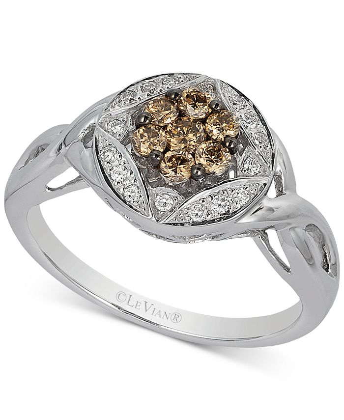 Le Vian - Diamond Cluster Twist Ring (1/3 ct. t.w.) in 14k White Gold