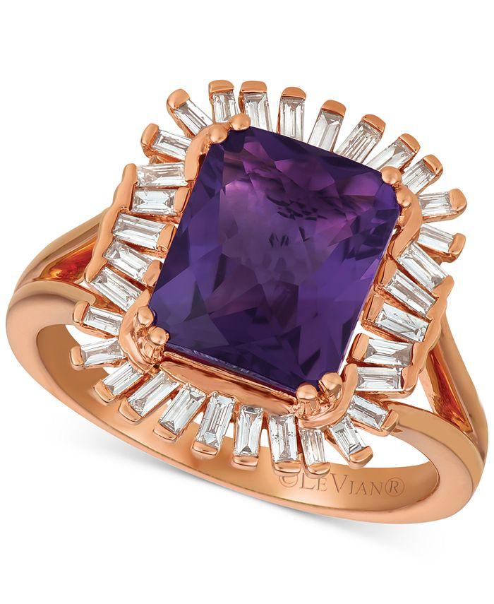 Le Vian - Amethyst (2-1/2 ct. t.w.) & Diamond (1/3 c.t. t.w.) Ring in 14k Rose Gold
