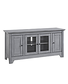 """52"""" Wood TV Media Stand Storage Console - Antique Grey"""