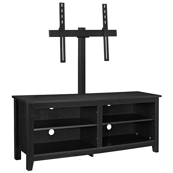 """Walker Edison 58"""" Wood Media TV Stand Console with Mount"""