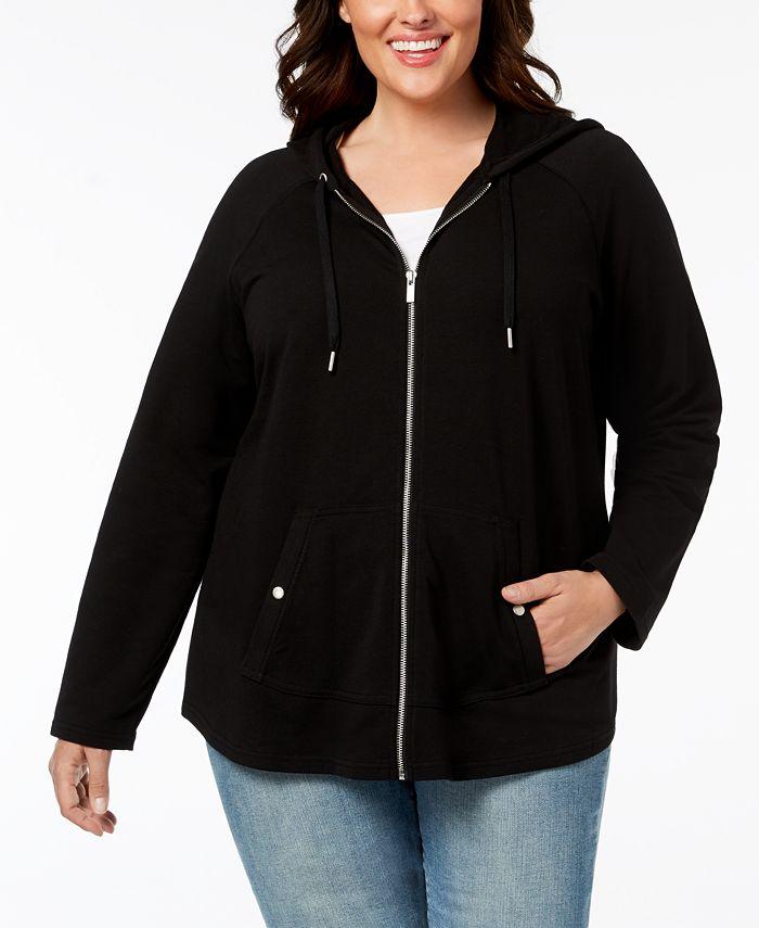 Style & Co - Plus Size Hooded Jacket