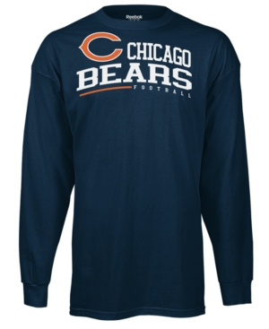 Reebok NFL T Shirt, Chicaco Bears Arched Horizon Long Sleeve Tee