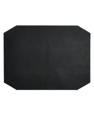 Black Faux Leather Placemat