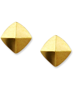 Vince Camuto Earrings, Gold Tone Pyramid Stud Earrings
