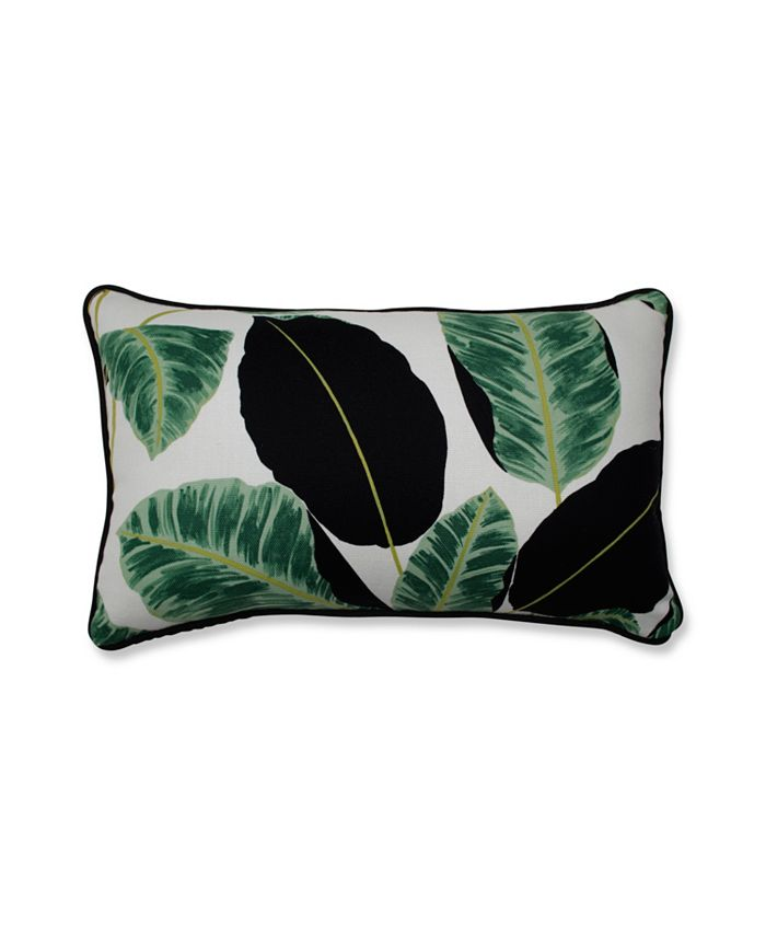 Pillow Perfect - Hojas Cubanas Rainforest Rectangular Throw Pillow