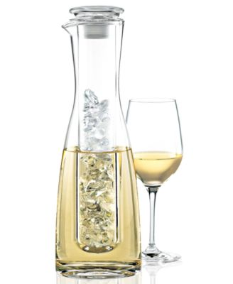 Wine Enthusiast Barware, 2 Piece Wine Chilling Carafe