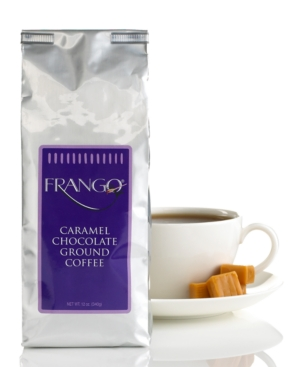 Frango Flavored Coffee, 12 oz Chocolate Caramel Valve Bag