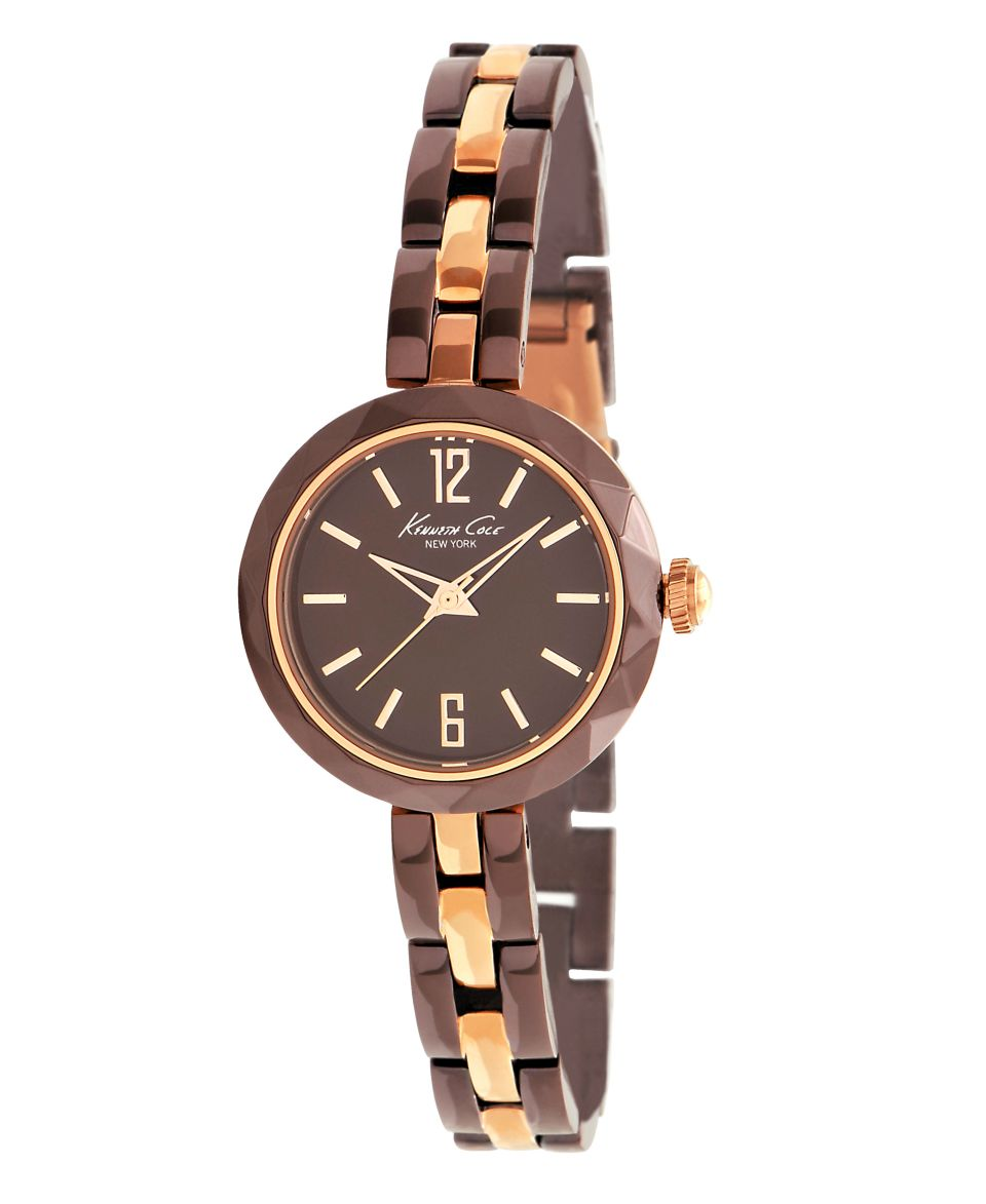 Kenneth Cole New York Watch, Womens Rose Gold and Brown Plated Stainless Steel Bracelet KC4765   Watches   Jewelry & Watches