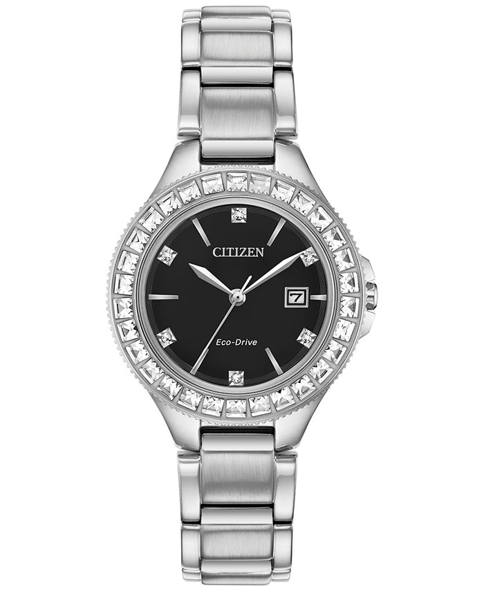 Citizen - Women's Silhouette Crystal Stainless Steel Bracelet Watch 31mm