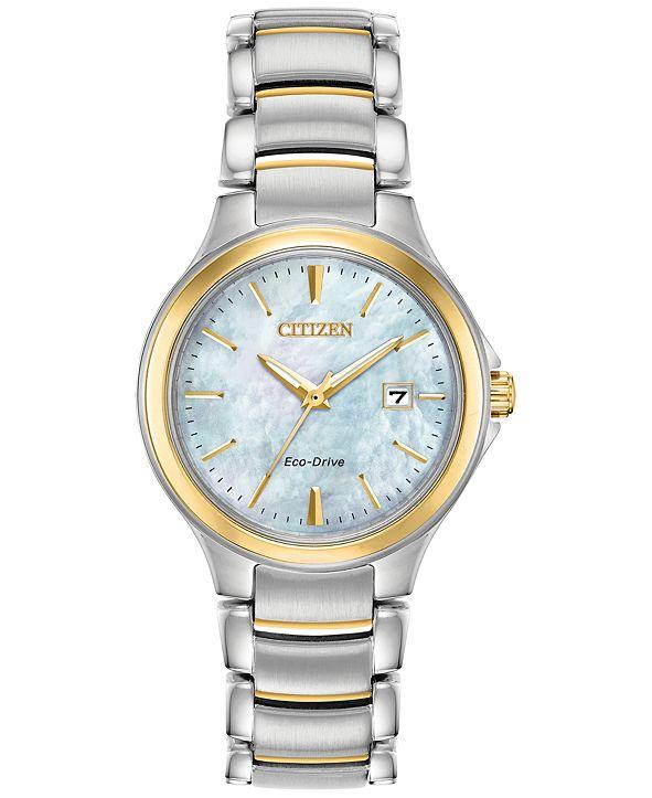Citizen Eco-Drive Women's Chandler Two-Tone Stainless Steel Bracelet Watch 30mm