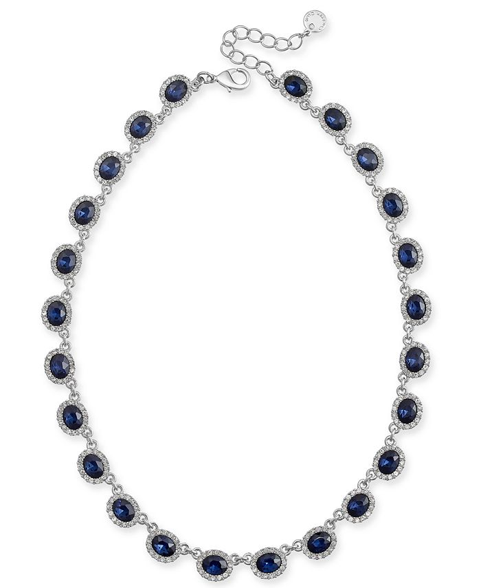 """Charter Club - Crystal Collar Necklace, 17"""" + 2"""" extender"""