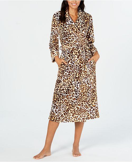 Charter Club Leopard Print Long Wrap Robe Created For Macy S Reviews Bras Panties Lingerie Women Macy S