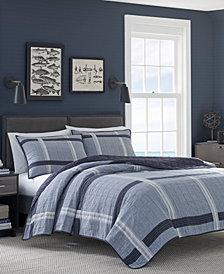 Nautica River Breeze Cotton Reversible Quilt & Sham Collection