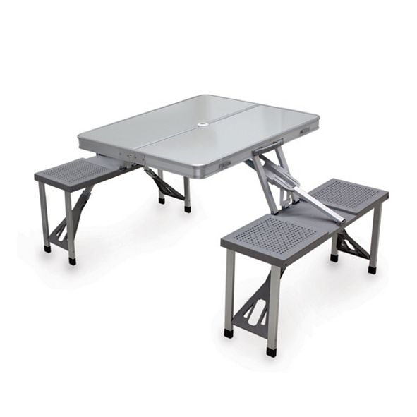 Picnic Time Oniva™ by Aluminum Portable Picnic Table with Seats