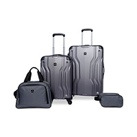 Tag Legacy 4-Piece Luggage Set (Charcoal or Pink)