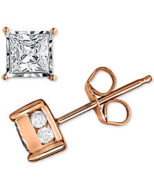 Trumiracle® Diamond Stud Earrings (1/2 ct. t.w.) in 14k White, Yellow or Rose Gold