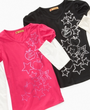 Apple Bottoms Kids Shirt, Girls Layered Tee