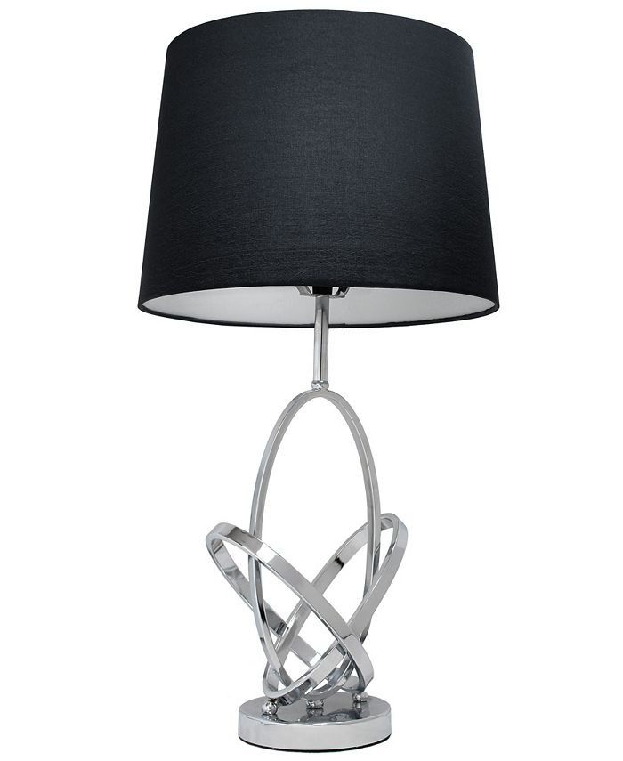 All The Rages - Mod Art Polished Chrome Table Lamp with Black Shade