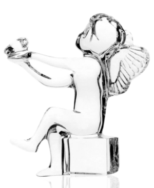 Baccarat Collectible Figurine, Cherub Holding Heart