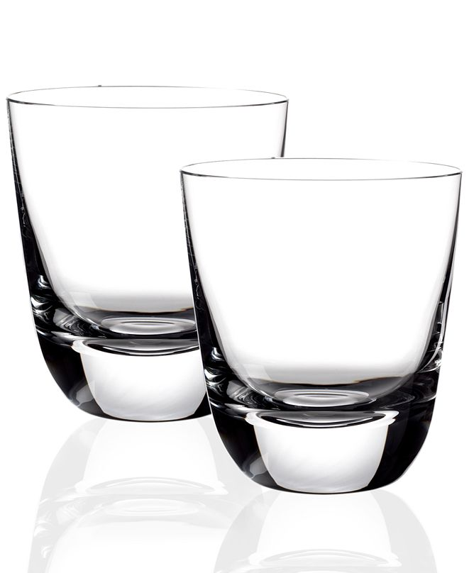 Villeroy & Boch Drinkware, Set of 2 American Bar Straight Bourbon Double Old Fashioned Glasses