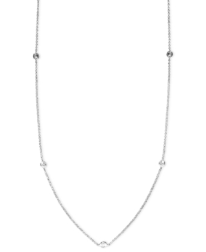 """Trio by Effy Collection Diamond Necklace, 14k White Gold Diamond Seven Station Necklace 24"""" (5/8 ct. t.w.)"""