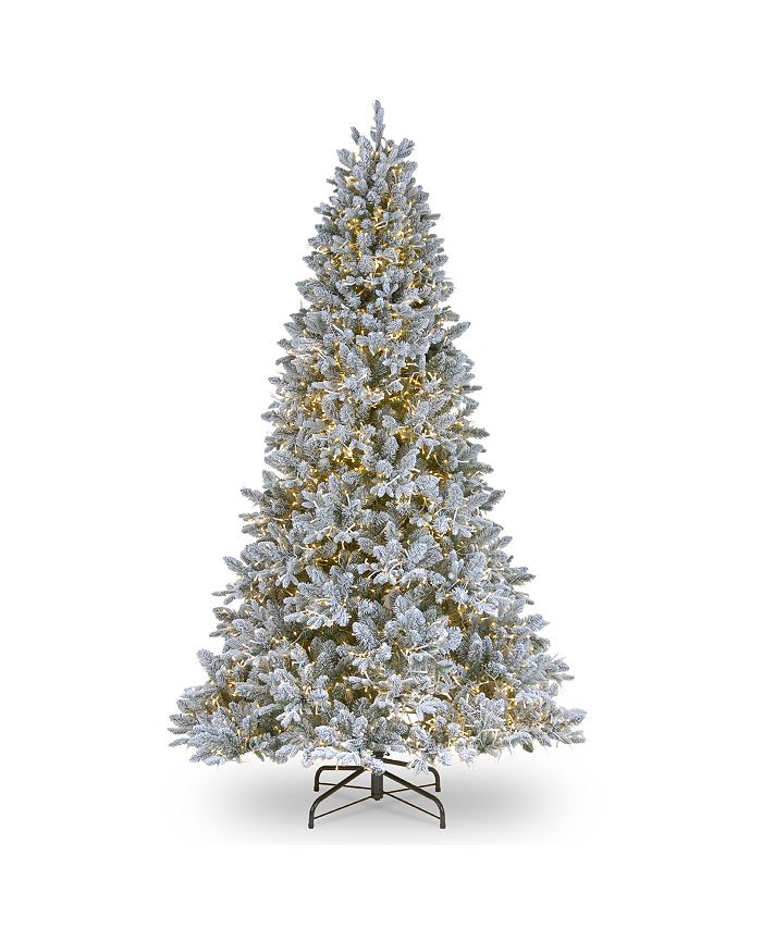 National Tree Company - National Tree 6 .5' Feel Real  Iceland Fir Hinged Tree with 650 Clear Lights