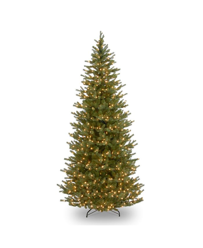 National Tree Company - 7 .5' Feel Real Norway Slim Spruce Tree with 700 Clear Lights
