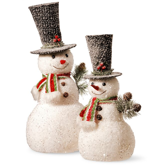 "National Tree Company National Tree 14"" and 18"" Snowman Set"