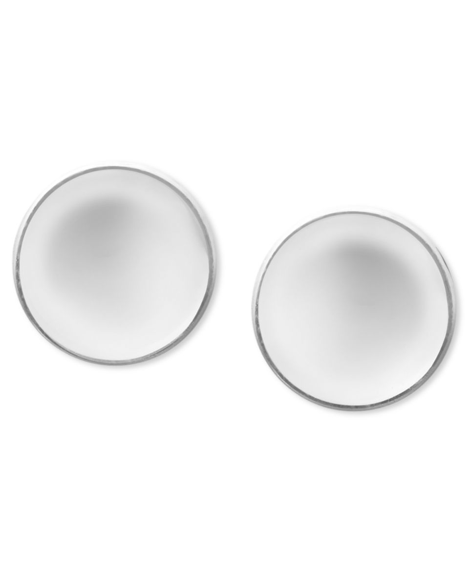 Victoria Townsend Sterling Silver Earrings, Black Diamond Heart Stud