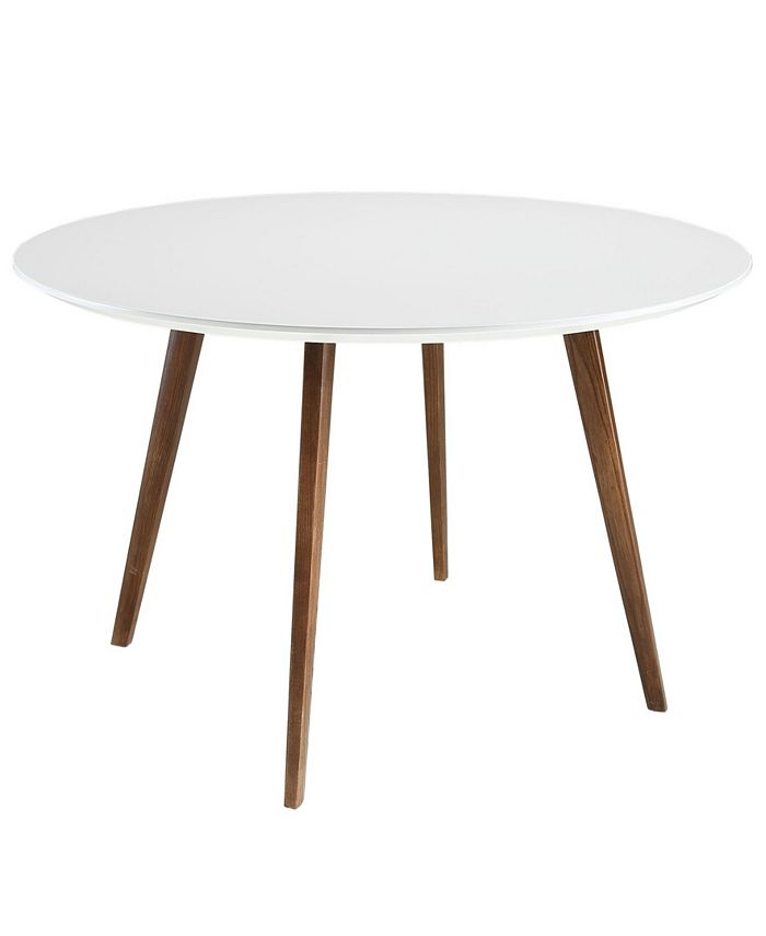 Modway - Platter Round Dining Table in White