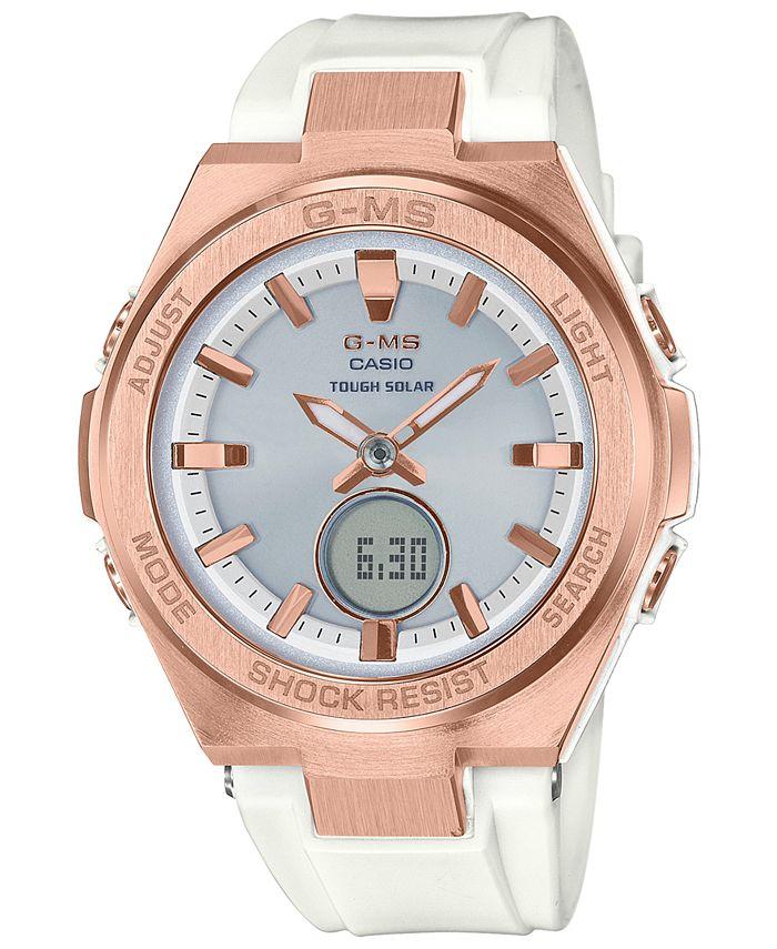 G-Shock - Ladies White and Silver Ana-Digi Watch